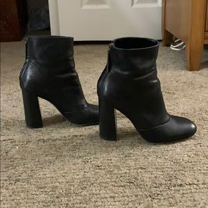 French connection heeled leather booties